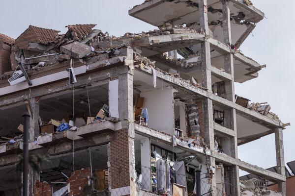 Výbuch na ulici Calle de Toledo úplne zničil sedempodlažnú budovu.
