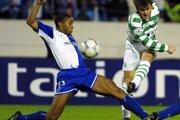 Ľubomír Moravčík v drese Celticu Glasgow.