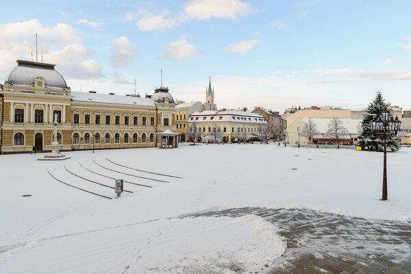 Zasnežená Nitra