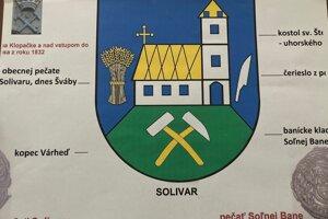 Kompromisný návrh solivarského erbu od M. Bodnára.