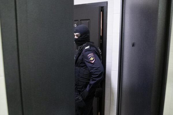 Príslušník ruskej polície - ilustračná fotografia.