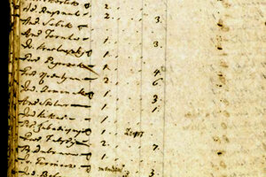 Cenzus z 1715 zachytáva aj územia dnešného Slovenska.