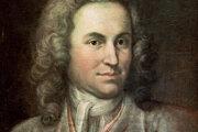 Mladý J. S. Bach, keď pracoval ako koncertný majster vo Weimare. Portrét z roku 1715.