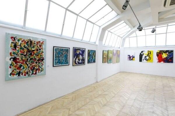 Výstava Jubilejný salón Združenia výtvarných umelcov Západného Slovenska 1990 - 2020 v Galérii Umelka v Bratislave 21. februára 2020.