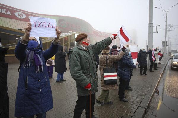 Protesty v Minsku.
