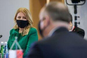 Prezidentka Slovenskej republiky Zuzana Čaputová počas stretnutia prezidentov Vyšehradskej skupiny V4.