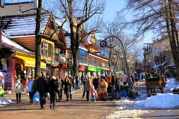 Ulica Krupówki, ilustračné foto.