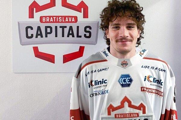 Sebastian Šmida v drese Bratislava Capitals
