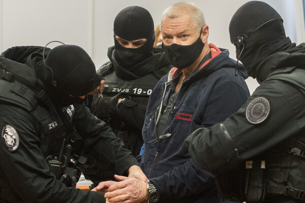 Lehel H. počas pojednávania na Špecializovanom trestnom súde v Pezinku.