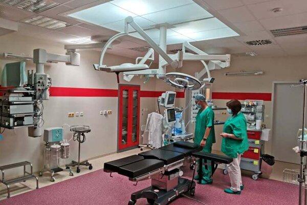 Nová operačná sála na chirurgickom oddelení.