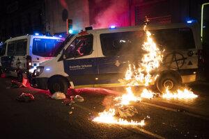 V Barcelone pokračovali protesty.