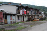 Zámočnícka ulica v Medzilaborciach.