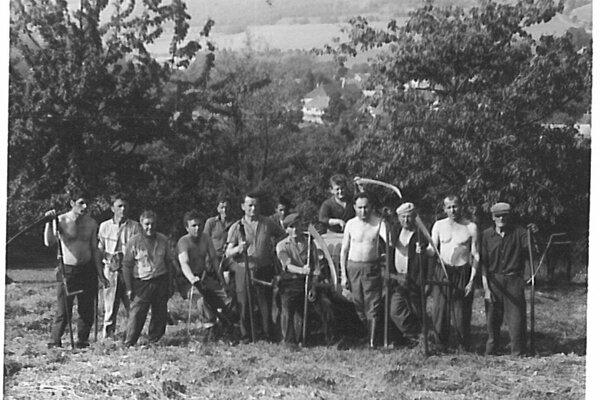 Kosenie lúk pre JRD v roku 1970.