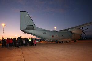 Slovenské vojenské lietadlo, ktoré pristálo na Letisku Košice s ruskou vakcínou Sputnik V.