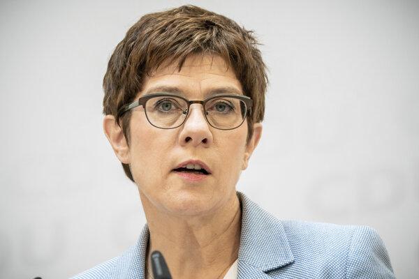 Nemecká ministerka obrany Annegret Krampová-Karrenbauerová.