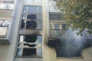 Požiar v bytovom dome v Gemerskom Jablonci.