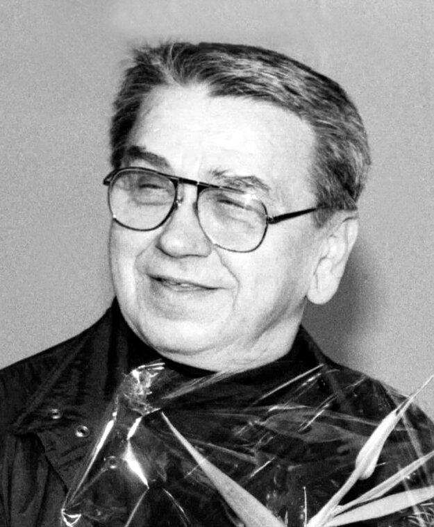 Gustáv Valach na udeľovaní ceny Slovenských národných novín v roku 1992