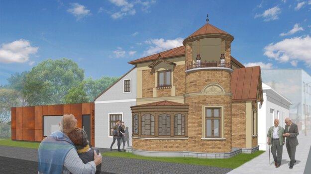 Vizualizácia Petrivaldského vily po rekonštrukcii.