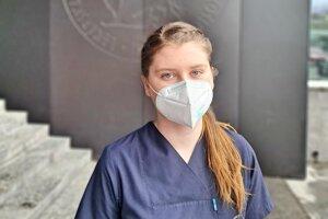 Alexandra Duláková pomáha pri triáži v Detskej fakultnej nemocnici v Košiciach už takmer rok.