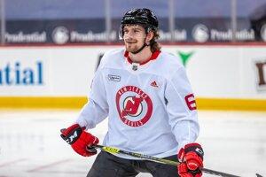 Marián Studenič v drese New Jersey Devils.
