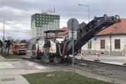 Rekonštrukcia cesty sa už začala.