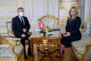 Prezidentka SR Zuzana Čaputová a minister zdravotníctva SR Vladimír Lengvarský.