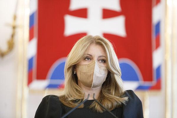 Prezidentka Zuzana Čaputová počas vyhlásenia k zmluve o dodávke ruskej vakcíny Sputnik V.