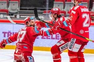 Hokejisti Třinca.