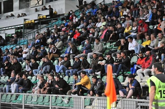 Fanúšikovia počas zápasu Fortuna ligy - ilustračná fotografia.