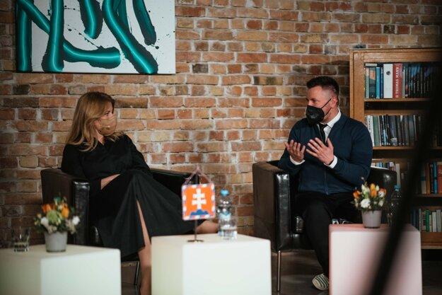 Na Festivale pre dušu diskutovali aj psychológ Marek Madro so Zuzanou Čaputovou.