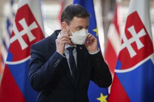 Slovenský premiér Edurad Heger v sídle Európskej komisie v Bruseli.