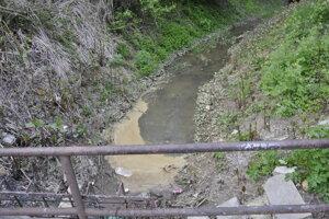 Znečistený potok.
