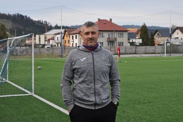 Jozef Blahuta na tréningu U19 v Krásne.