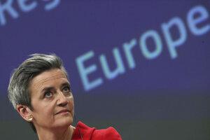 Výkonná podpredsedníčka Európskej komisie zodpovedná za politiku hospodárskej súťaže Margrethe Vestagerová.
