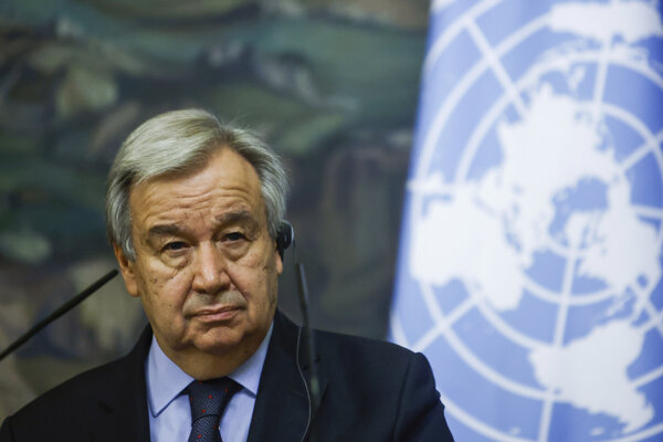 António Guterres, generálny tajomník Organizácie Spojených národov.
