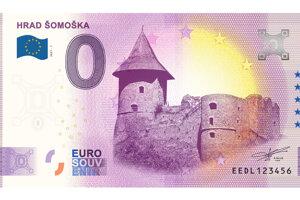 Na jednej z dvojice vydaných bankoviek je hrad Šomoška.