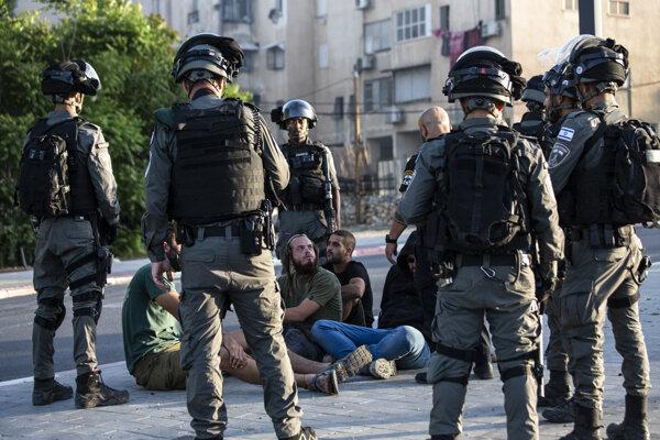Zásah proti židovským násilníkom v Lode.