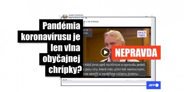 Tisíce používateľov Facebooku zdieľali v prvej polovici mája 2021 video, v ktorom nemecký lekár Rolf Kron uviedol nepravdivé informácie o pandémii koronavírusu. Tvrdil, že 99 percent ľudí nakazených koronavírusom nevykazuje žiadne príznaky, alebo že v uplynulom roku sa nezvýšila celosvetová úmrtnosť, či napríklad aj to, že lekári a nemocnice zarábajú tučné sumy na pacientoch s diagnózou Covid-19. TASR na dezinformácie upozorňuje v spolupráci s tlačovou agentúrou AFP.
