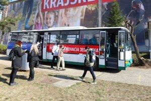 Očkovací autobus Banskobystrického kraja.