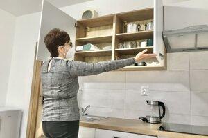 Takto vyzerá kuchyňa v byte.