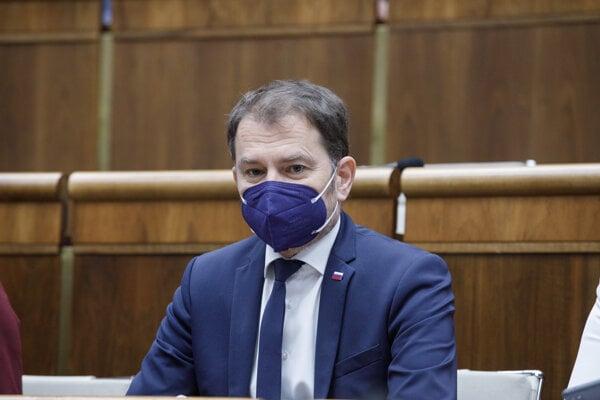Minister financií Igor Matovič v parlamente.