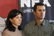 Natalia a Dzmitry Pratasevičovci, rodičia väzneného novinára Ramana Prataseviča.