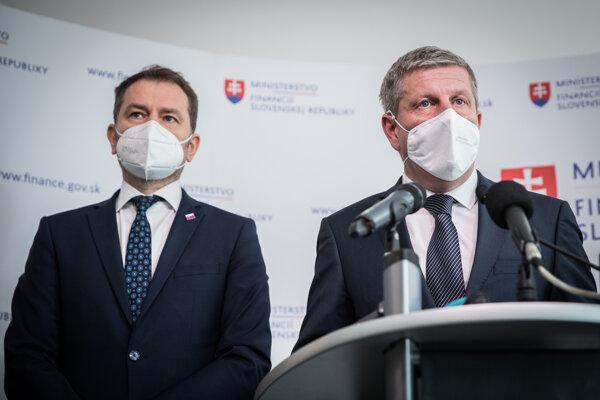Igor Matovič a Vladimír Lengvarský.