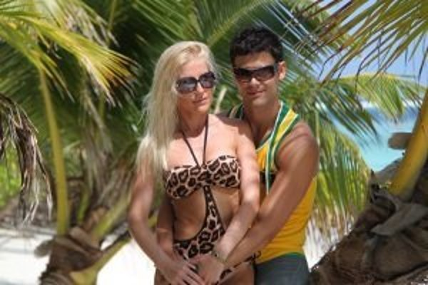 Monika a Peťo na Maldivách.