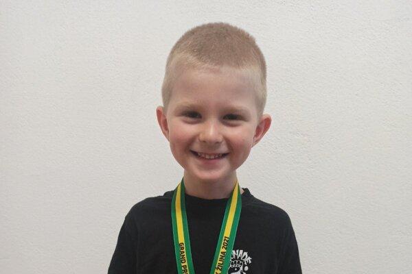 Matúš Valent získal zlatú medailu.
