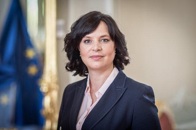 Predsedníčka strany Za ľudí, vicepremiérka a ministerka investícií Veronika Remišová.