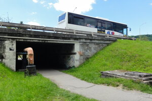 Podchod pod štvorprúdovkou na Masarykovej vo Zvolene.