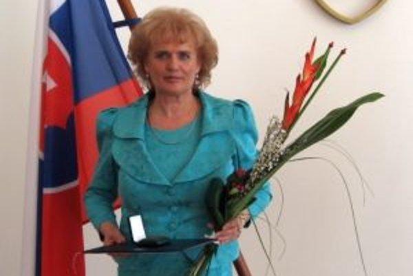 Marta Rácová si prevzala Malú medailu svätého Gorazda.