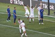Momentka zo zápasu Slovensko - Španielsko na EURO 2020 / 2021.