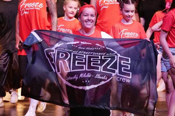 Zakladateľka a trénerka tanečnej školy Freeze Lucia Sireková.